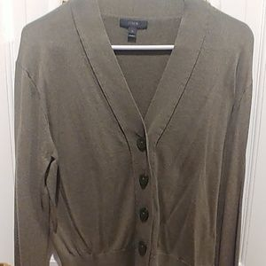 Olive Green JCREW lightweight cardigan.